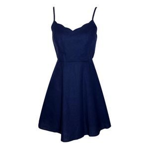 NWT Market & Spruce Blue Skater Dress Medium